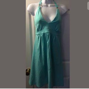 VS Bra Tops Halter Dress Gold O ring Turquoise